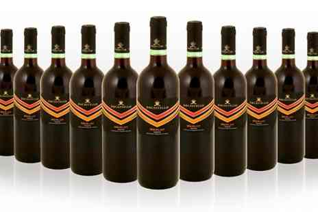 Wine Online - 12 Bottles of Merlot Wine  With Free Delivery  - Save 34%
