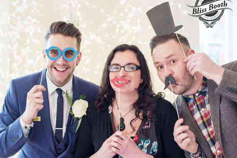 Bliss Booth - Three Hour Photo Booth Hire with Unlimited Prints - Save 43%