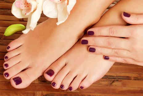Platinum Beauty and Tanning - Gelish Manicure and Pedicure or a Hollywood Wax - Save 46%