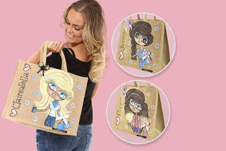 Toxic Fox - Large personalised Claireabella jute bag - Save 40%