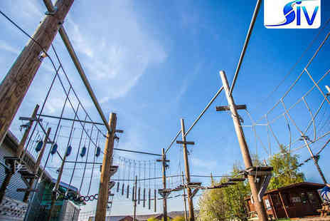 Altitude  - High Ropes Adventure Course for Two Adults and Two Children - Save 50%