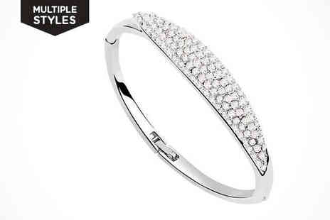 Shimmering Style - Three Lanes Bracelet made with Swarovski Elements  - Save 84%