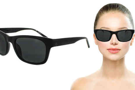 Discounted Sunglasses - Calvin Klein Black/Grey Sunglasses - Save 66%