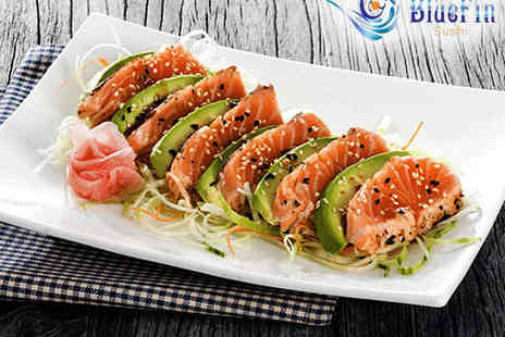 Blue Fin Sushi - Six Course Sushi Meal with a Soft Drink Each for Two  - Save 63%