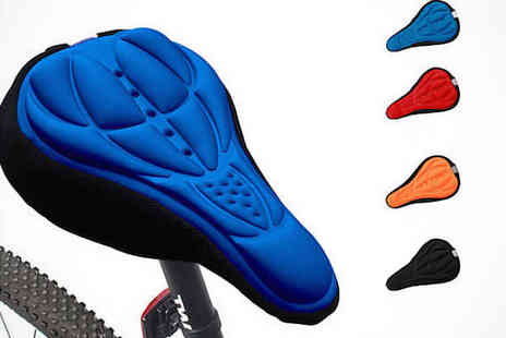 iThink Gadgets - Gel Bike Seat Cover in Red, Blue, Black, or Orange - Save 85%