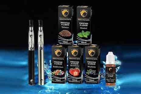 Prestige Vaping - Eight Piece Electronic Cigarette Starter Kit - Save 50%