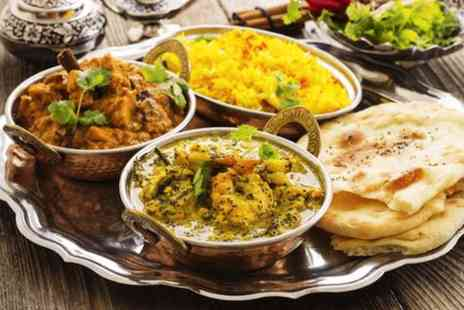 Le Delhi Lounge - Indian meal for Two with starter main course & a glass of wine - Save 0%