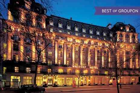 The Waldorf Hilton - Three course meal for two - Save 39%