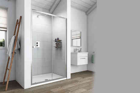 Victoria Plumb - Glass sliding shower door  - Save 50%