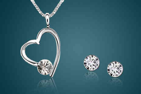 My Boutique Store - Heart Crystal Jewellery Set - Save 90%