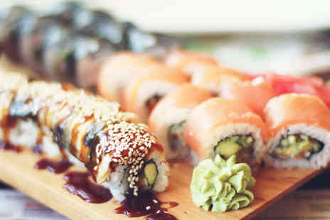 BlueFin Sushi - 30 Piece Sushi Platter for Two or 60 Piece Platter for Four with a Soft Drink Each - Save 52%