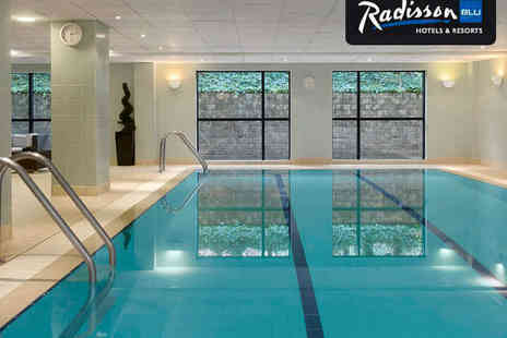 Radisson Blu Hotel Manchester Airport - Pamper Day with Choice of Treatment including Hot Stone Massage for Access to Spa Facilities and Prosecco - Save 67%