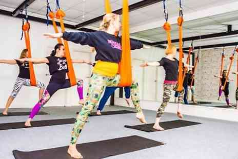 Aerial Yoga  -  Five Aerial Yoga Classes  - Save 44%