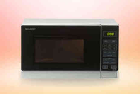 Crampton and Moore - Sharp R272SLM 800W touch control microwave in silver  FREE delivery - Save 0%