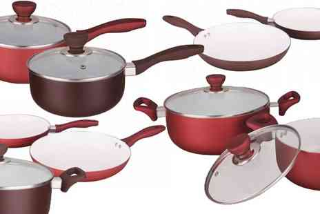 my internet warehouse - Ceramic Pan Sets for Induction Hobs - Save 33%