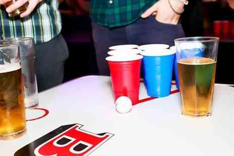 Blueberry Bar and Kitchen - One Hour Beer Pong With Nachos, Shots and Beer Pitcher For Four - Save 42%