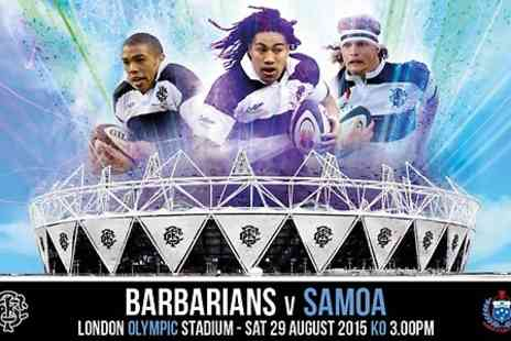 Barbarians - Adult Ticket to Barbarians v Samoa  - Save 9%