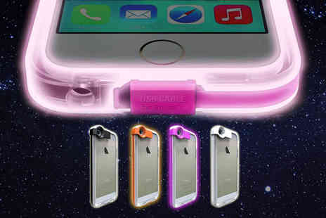 BritishGoody - Two In one light up iPhone case and charger for iPhone 5, 5s, 6 or 6 - Save 70%