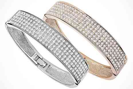 Stylish Bracelet made - Bracelet made with Swarovski Elements in a Choice of Colour - Save 83%