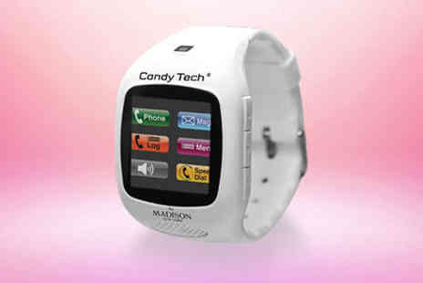 One Reward - Candy Tech mobile phone watch by Madison in white - Save 0%