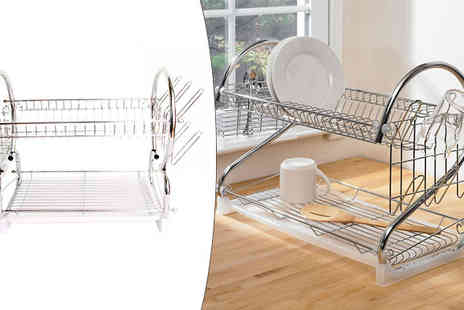 Toy Loco - Two Tier Design Dish Rack  - Save 55%