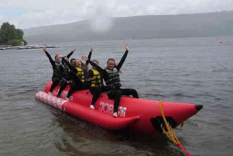 Loch Lomond Leisure Scotland -  Banana boat ride for up to six people  - Save 0%