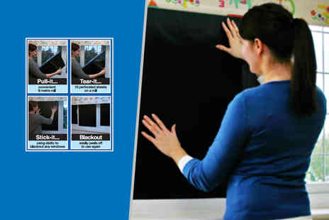 Magic Stick On - Ten perforated sheets of magic, stick on blackout blind fabric  - Save 44%