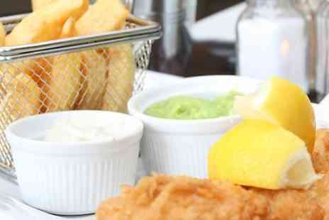 The Rising Sun Inn - Fish and Chips With Soft Drink For Two  - Save 50%
