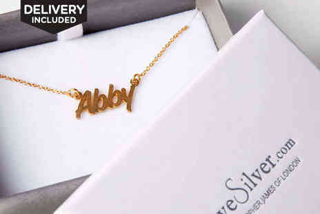 Love Silver - Personalised Name Necklace - Save 41%