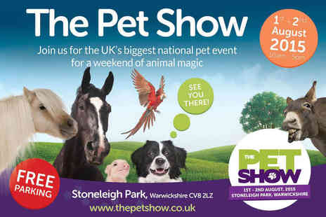 The Pet Show - Ticket to The Pet Show in Stoneleigh Park - Save 29%