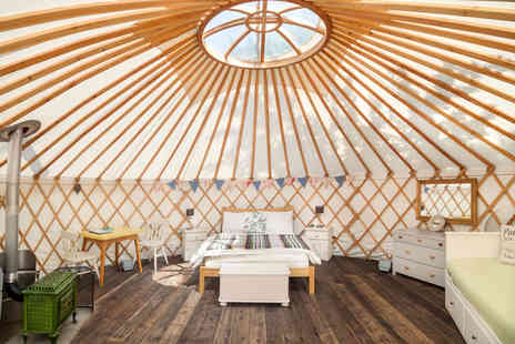 The Yurt Retreat - Two night glamping break in a Mongolian style 20 foot yurt sleeping up to four - Save 52%