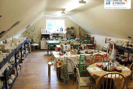 Fired up & Painting - Clay Painting Party for Six Kids - Save 50%