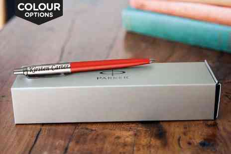 Treat a Special Someone - Personalised Parker Pen in a Choice of Colour - Save 64%