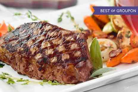 Ryans Bar & Restaurant - 8oz Steak Meal With Wine or Beer For Two - Save 0%