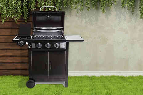 EVRE -   Fireplus gas barbeque with three main burners and one side burner  - Save 68%