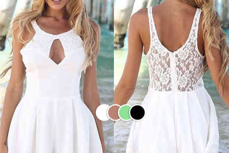 LOVE TTI - Stylish summer lace chiffon playsuit   - Save 70%
