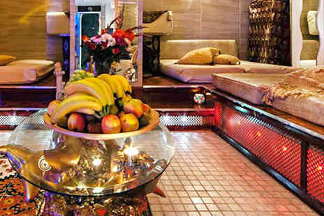Arabian Hammam Spa - Arabian Hammam Spa Experience with Full Body Scrub, Honey Hair Mask, Fresh Fruit, and Tea for One   - Save 44%