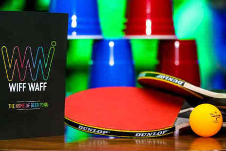 Wiff Waff - Ping Pong Table Hire for 4  with a Drink Each - Save 54%