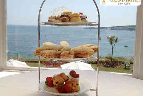 Grand Hotel Swanage - Traditional High Tea with a Glass of Bucks Fizz Each for Two  - Save 31%