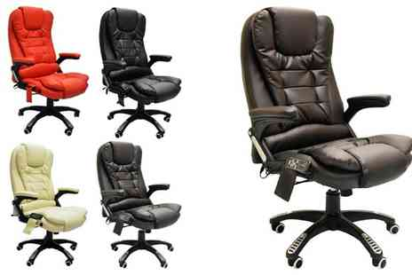 Muneer Contracting - Reclining Leather Massage Chair - Save 60%