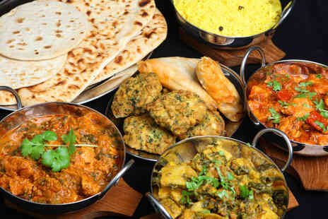 Green Chilli Cafe - Two Course Indian Meal with Sides for Two  - Save 48%
