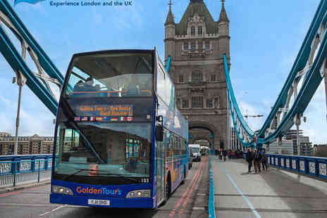 Golden Tours - Three Hour London Panorama Open Top Bus Tour - Save 50%