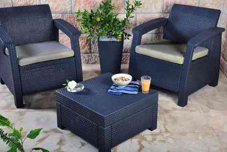 Garden Store Direct - Two Seater Balcony Rattan Furniture Set - Save 38%
