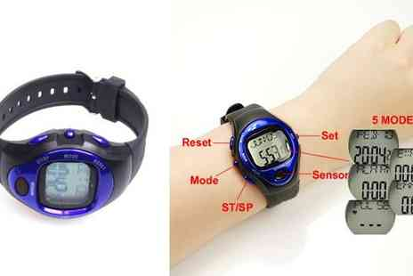 Aneeks - Pulse Sports Watch with Heart Rate Monitor & Calorie Counter - Save 78%