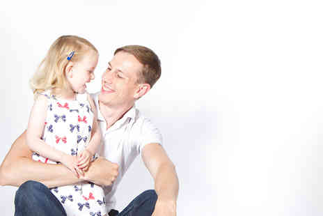 Jigsaw Photography - One hour family photoshoot for up to Eight, including 5 prints, a canvas and a digital image  - Save 92%