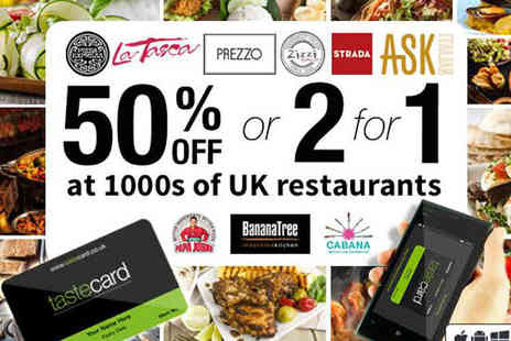 tastecard - 12 Month Membership to tastecard, Delivery Included - Save 56%