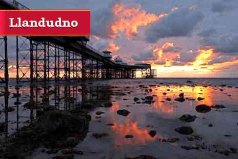 Min y Don -  Two Night Summer Seafront Break to Llandudno with Breakfasts and a 5 Course Dinner - Save 0%