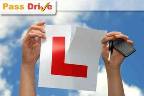 Pass Drive - Three Individual One Hour Driving Lessons for £19  - Save 68%