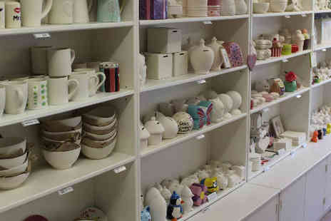 Get Crafty - Two hour Pottery Painting session  - Save 50%