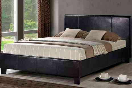 Panoply Furnishings - Munich Double Bed with Optional Mattress - Save 71%